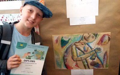 Usvojil sem 3. mesto na likovnem natečaju Evropa v šoli